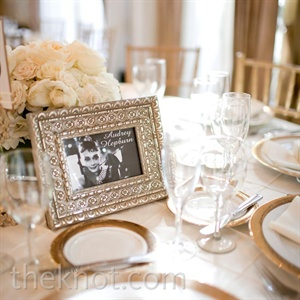 Each table was named after a famous actor, with their picture in an ornate gold frame.