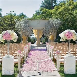 Pink Outdoor Ceremony