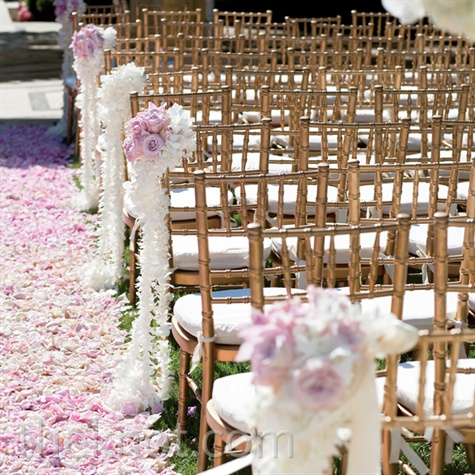 Pink Floral Aisle Decor