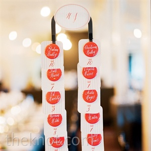 Orange Button Escort Cards