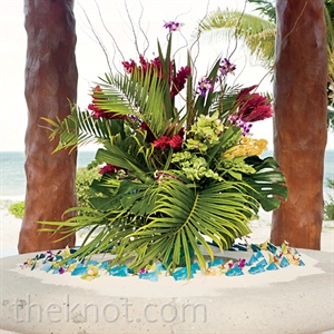 Tropical Palm Centerpiece