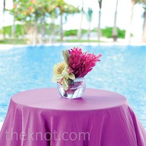 Small Tropical Purple Centerpiece