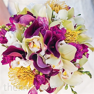 Calla Lilly and Orchid Bouquet