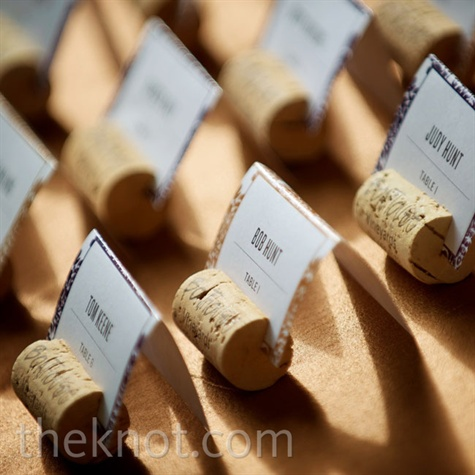 Wine Cork Escort Card Stands