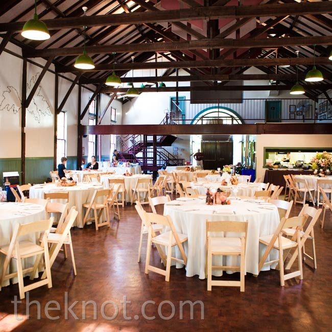 The Trolley Barn's historical background and casual vibe were ideal for the couple's laid-back fete.