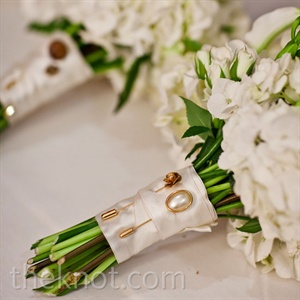 Pin-Accented Bouquet Wrap