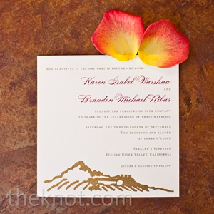 Rustic Invitation Card
