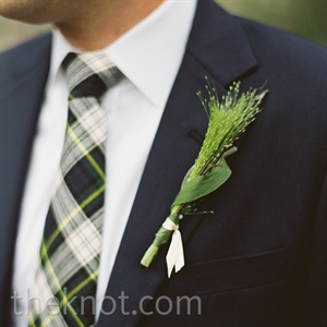 Greenery Boutonniere