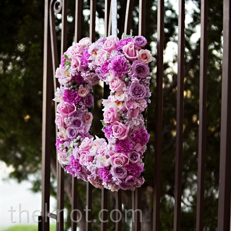 Pink Floral Wreath Decor