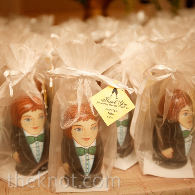 Patricia grew up collecting Russian nesting dolls, so she worked with a specialty company in North Carolina to create custom favors for the guests.