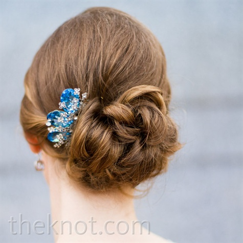 Blue Crystal Hairpiece
