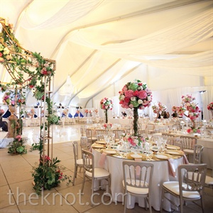Romantic White and Pink Reception