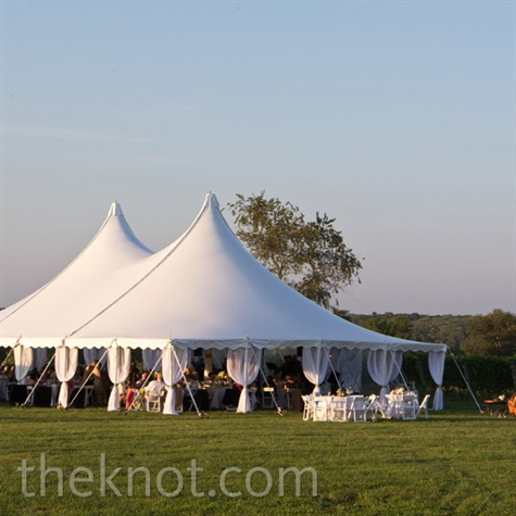 White Reception Tent