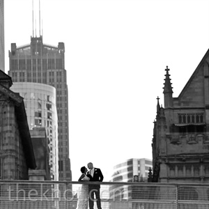 Black and White Couple Shot