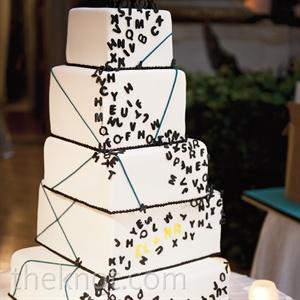 Modern Alphabet Cake