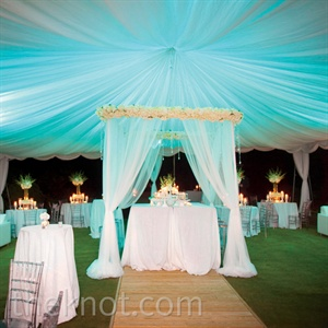 Blue Tented Reception