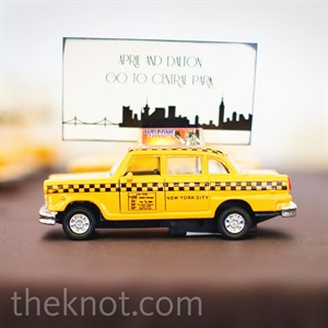 Taxi Cab Escort Cards