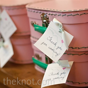 Mini Suitcase Wedding Favors