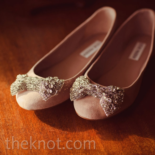 Two things persuaded Sophie to choose these flats: She wanted to be stable on the grass and dance all night.