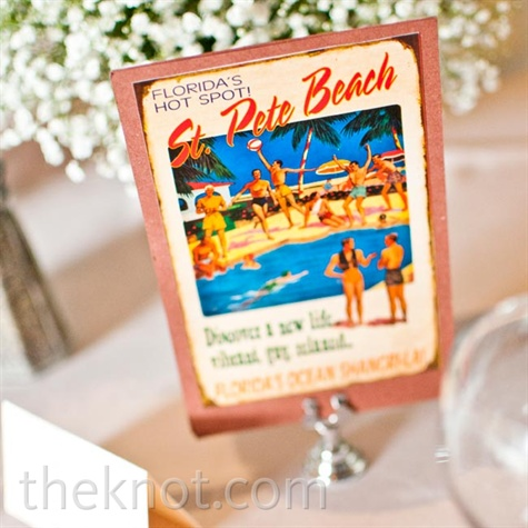 Vintage Postcard Table Names