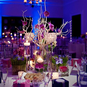 Purple Head Table D&#233;cor