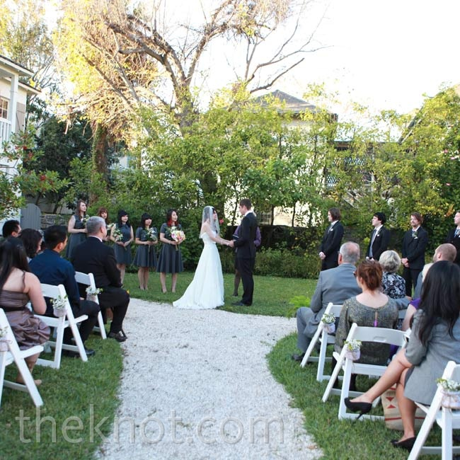 Mary and Jeremy married in a simple garden ceremony.