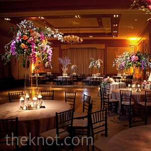 Tall Orchid and Branch Centerpieces