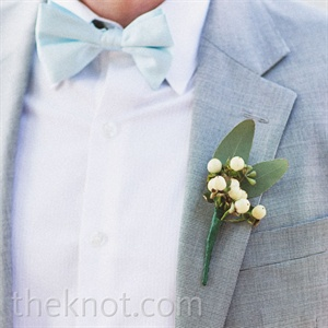 White Berry Boutonniere