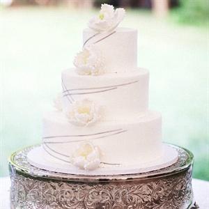 White Sugar Peony Cake