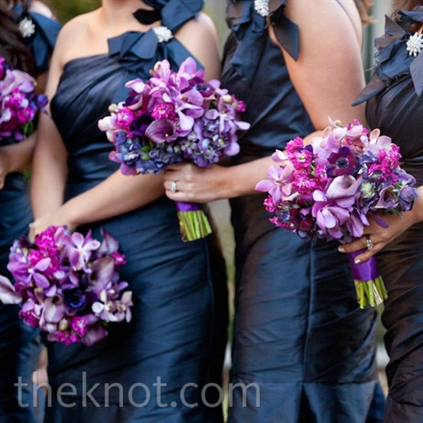 Midnight-blue Bridesmaid Dresses