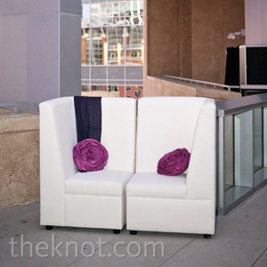 White and Fuchsia Lounge Decor