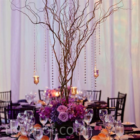 tall curly willow centerpieces