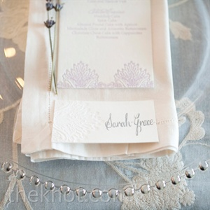 White Linen and Glass Place Settings