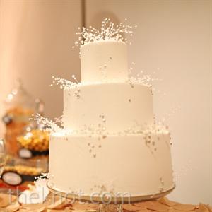 White Seed Pearl Cake