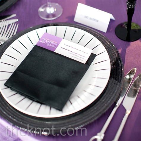 Black and White Place Settings