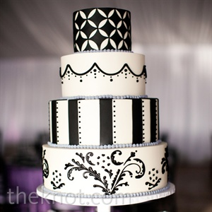 Black and White Patterned Cake