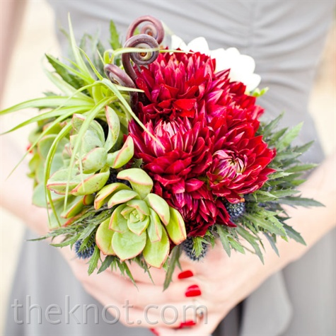 Bold Bridesmaid Bouquets