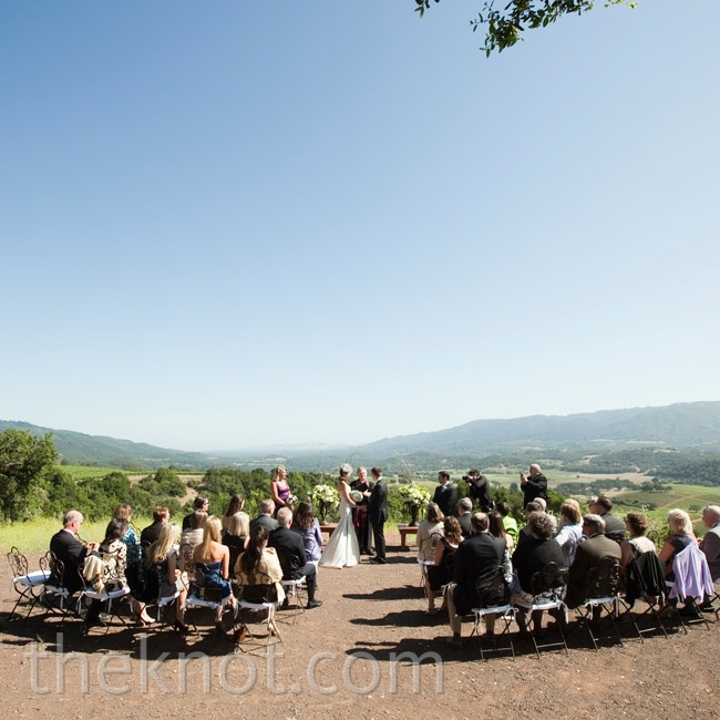 Shannon and Tim held their ceremony separately from the reception to treat guests to a range of breathtaking views in the area, like this one at Kunde Family Estate.