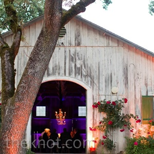 "The barn at Annadel Estate Winery was an ideal spot for what the couple wanted to feel like a ""relaxed dinner party."""