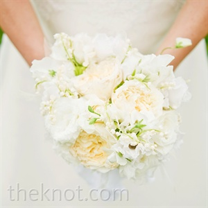 White and Cream Bridal Bouquet