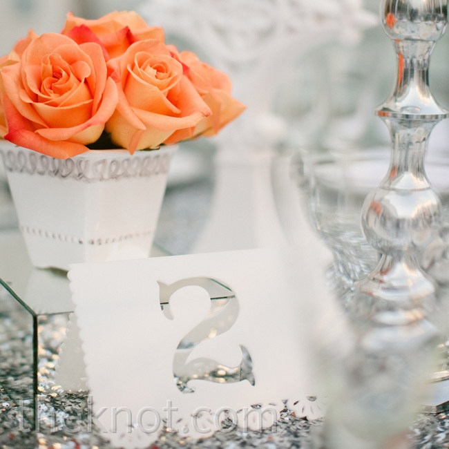 Tented table numbers resembled Mexican papel picado, keeping with the day's party vibe.