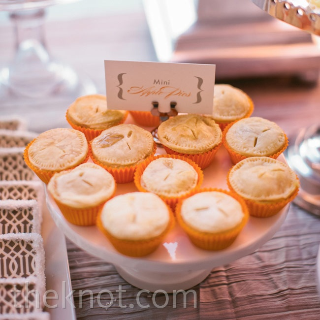 Mini pies added variety to the sweets selection.