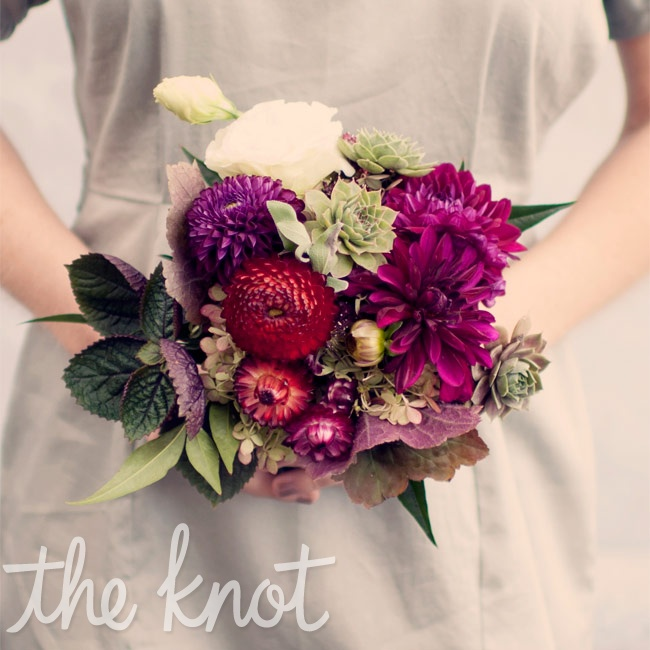 Each girl carried a bouquet of a concentrated hue from the day's varied palette.