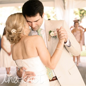 "The self-proclaimed suckers for the oldies chose Frankie Valli's ""Can't Take My Eyes Off You"" for their first-dance song."