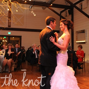 "The couple took to the floor to ""Crazy Love"" by Van Morrison."