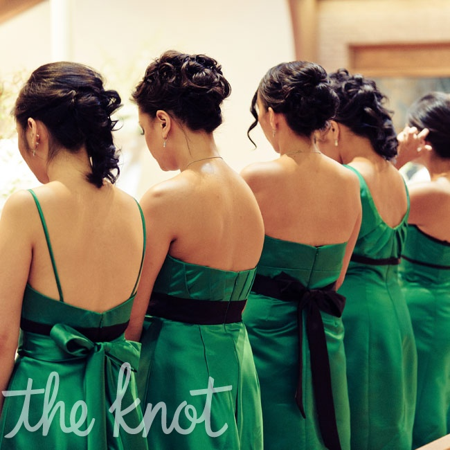 ann s boutique bridesmaid looks dark green earth tones green jewel