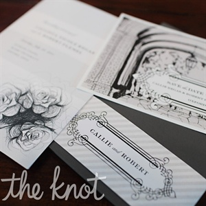 Black-and-White Invitations