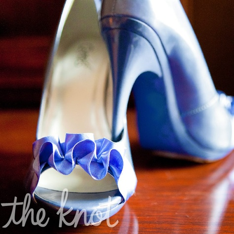 Periwinkle-blue Bridal Shoes