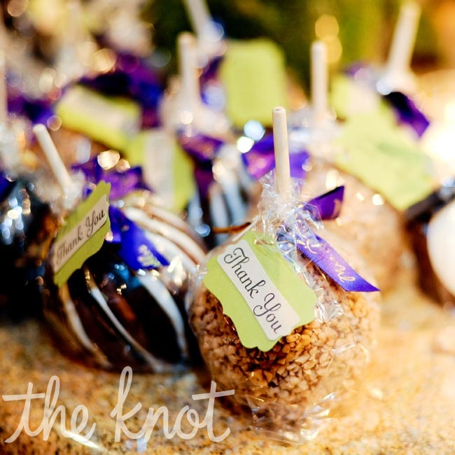 Candy apples were a sweet sendoff for guests.
