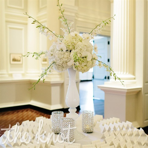 All-white Escort Card Display